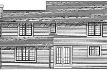 Dream House Plan - Traditional Exterior - Rear Elevation Plan #70-178