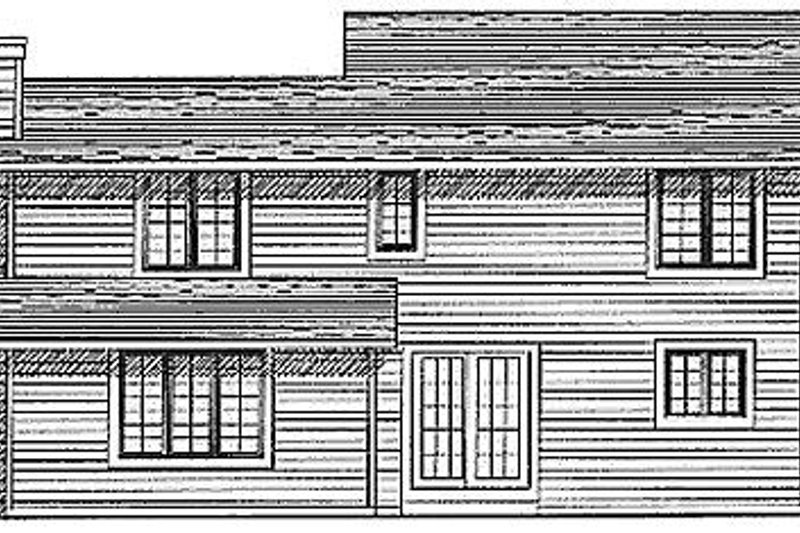 Traditional Exterior - Rear Elevation Plan #70-178 - Houseplans.com