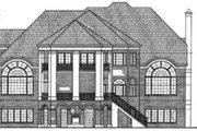 European Style House Plan - 4 Beds 3.5 Baths 4390 Sq/Ft Plan #119-104 Exterior - Rear Elevation