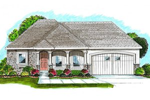 European Exterior - Front Elevation Plan #455-149