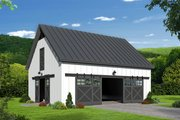 Farmhouse Style House Plan - 0 Beds 0 Baths 993 Sq/Ft Plan #932-75 Exterior - Front Elevation