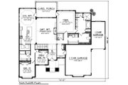 Ranch Style House Plan - 3 Beds 2.5 Baths 2507 Sq/Ft Plan #70-1223 Floor Plan - Main Floor Plan