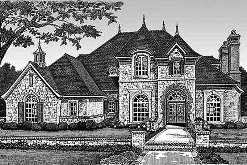 European Exterior - Front Elevation Plan #310-326