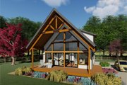 Cabin Style House Plan - 2 Beds 2 Baths 1011 Sq/Ft Plan #126-181