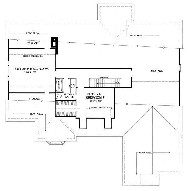 Country Floor Plan - Upper Floor Plan #137-274