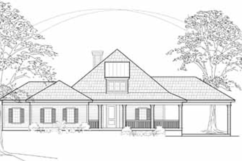 Country Exterior - Front Elevation Plan #61-210