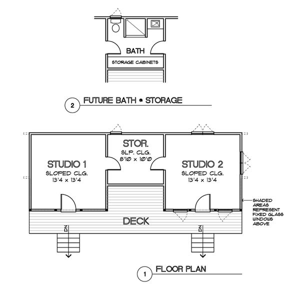 Modern Floor Plan - Main Floor Plan #449-20