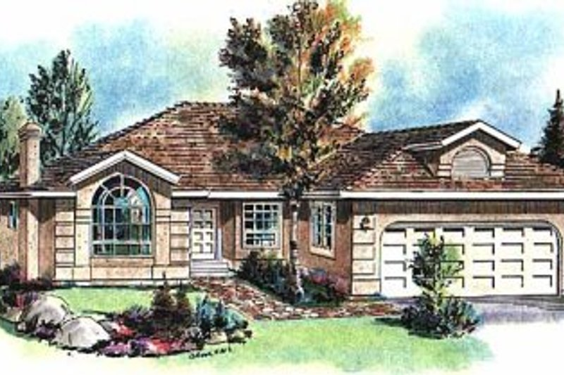Architectural House Design - Ranch Exterior - Front Elevation Plan #18-145