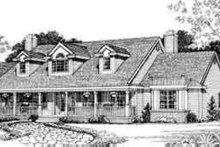 Colonial Exterior - Front Elevation Plan #72-472