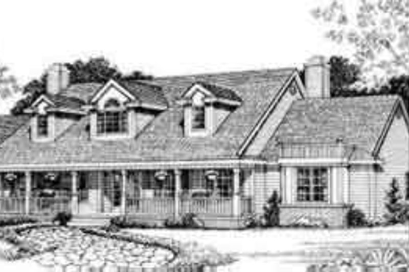 House Blueprint - Colonial Exterior - Front Elevation Plan #72-472