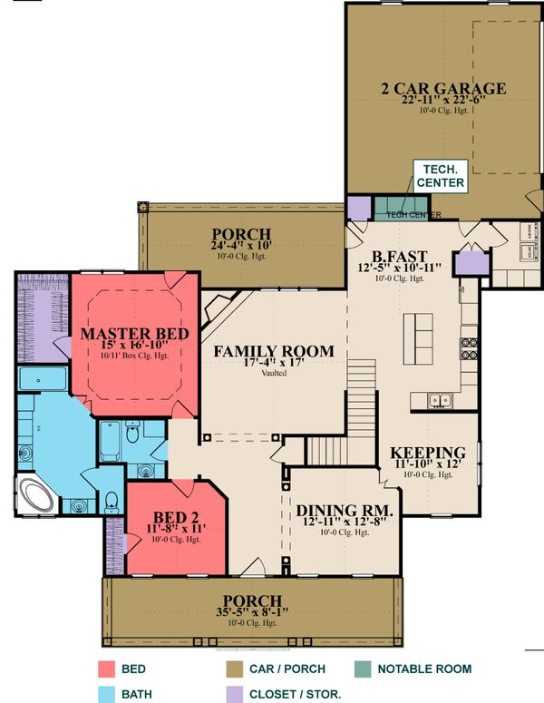 Cottage Floor Plan - Main Floor Plan Plan #63-351