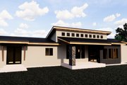 Contemporary Style House Plan - 5 Beds 3.5 Baths 4139 Sq/Ft Plan #920-15 Exterior - Rear Elevation