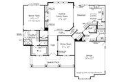 Craftsman Style House Plan - 4 Beds 3.5 Baths 2619 Sq/Ft Plan #927-4 Floor Plan - Main Floor Plan