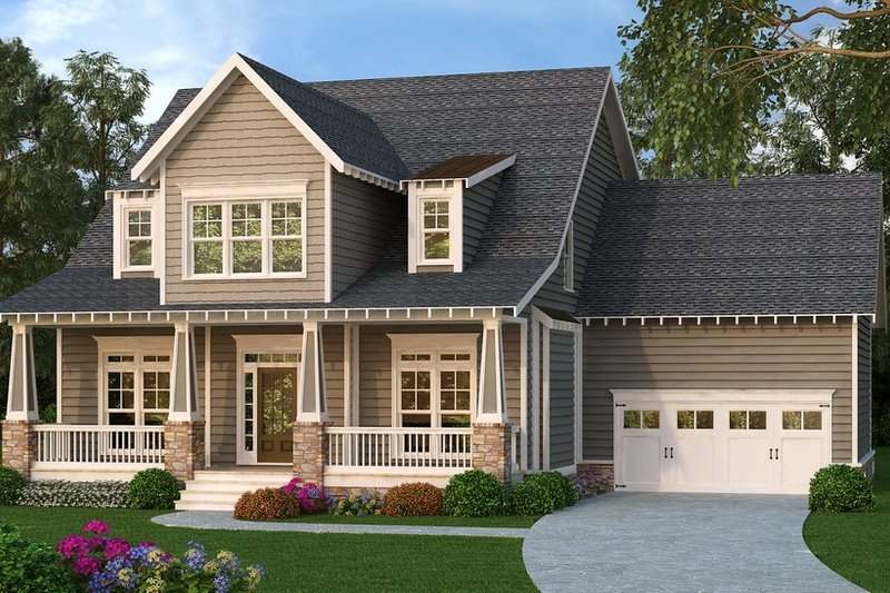 Bungalow Style House Plan - 4 Beds 2.5 Baths 2761 Sq/Ft Plan #419-298 Exterior - Front Elevation