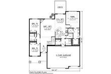 Ranch Floor Plan - Main Floor Plan Plan #70-1244