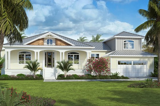 Cottage Exterior - Front Elevation Plan #938-86