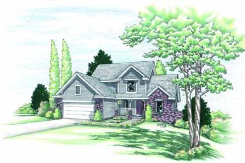 Traditional Exterior - Front Elevation Plan #20-553 - Houseplans.com