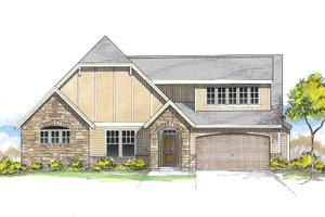 House Plan Design - European Exterior - Front Elevation Plan #53-622