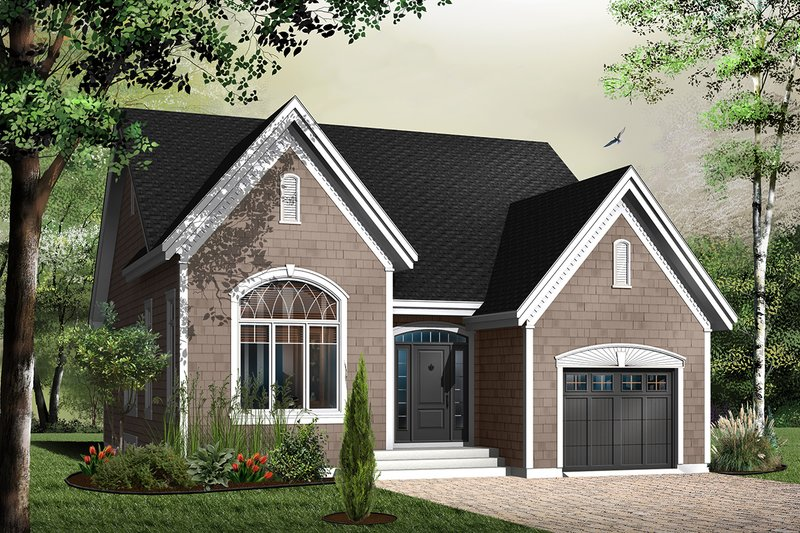 Home Plan - Traditional Exterior - Front Elevation Plan #23-786