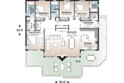 Contemporary Style House Plan - 4 Beds 3 Baths 2146 Sq/Ft Plan #23-2263 Floor Plan - Main Floor