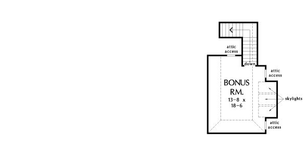Architectural House Design - Ranch Floor Plan - Upper Floor Plan #929-1049