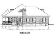 European Style House Plan - 3 Beds 2 Baths 1947 Sq/Ft Plan #25-1101 Exterior - Rear Elevation
