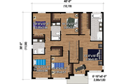 Contemporary Style House Plan - 5 Beds 3.5 Baths 2498 Sq/Ft Plan #25-4885