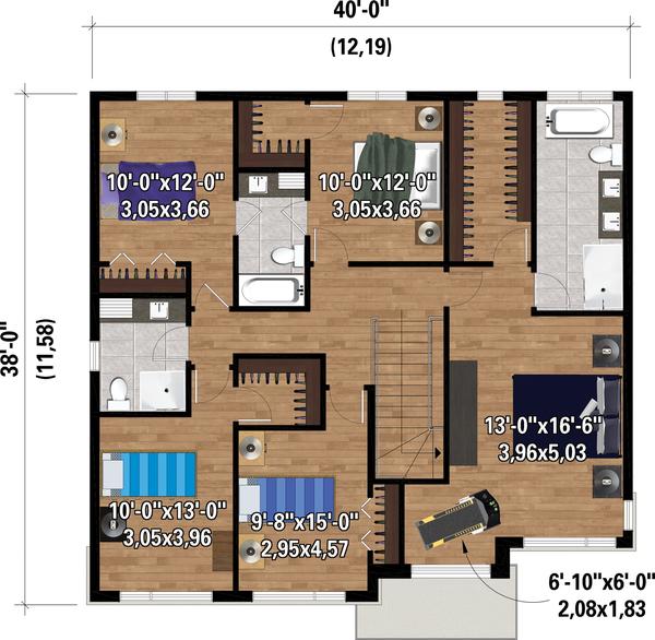 Dream House Plan - Contemporary Floor Plan - Upper Floor Plan #25-4885