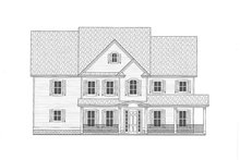 Home Plan - Farmhouse Exterior - Front Elevation Plan #437-92