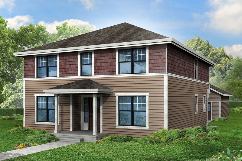 Colonial Exterior - Front Elevation Plan #124-958