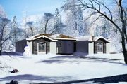 Adobe / Southwestern Style House Plan - 4 Beds 3 Baths 3530 Sq/Ft Plan #1-837 Exterior - Front Elevation
