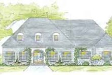 Southern Exterior - Front Elevation Plan #36-453