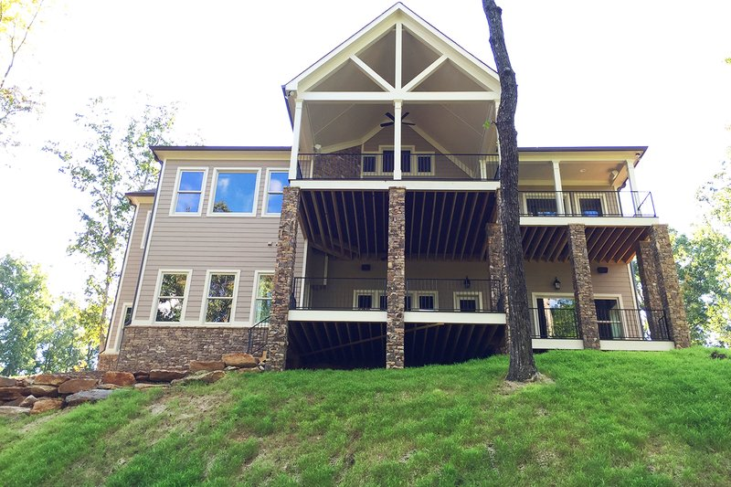 Craftsman Exterior - Rear Elevation Plan #437-59 - Houseplans.com