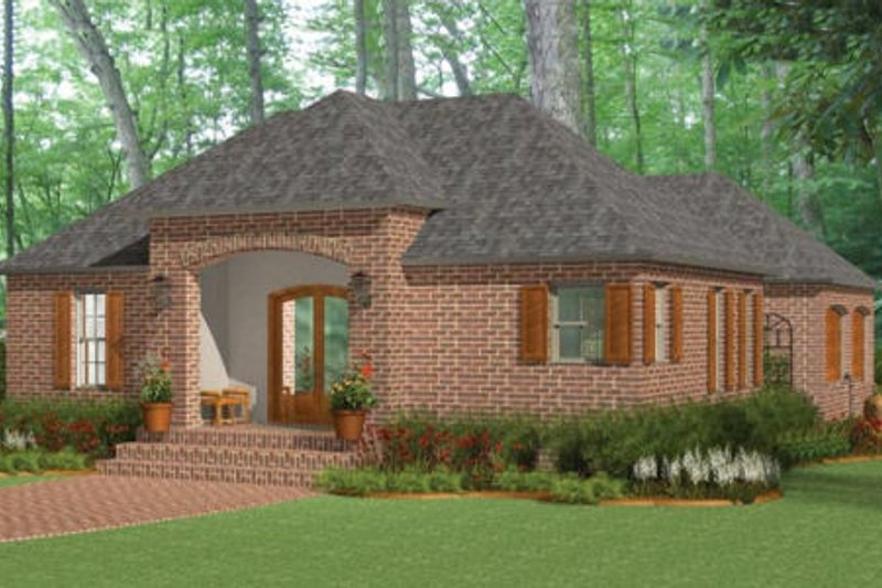 Traditional Exterior - Front Elevation Plan #406-9617 - Houseplans.com
