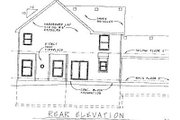 Colonial Style House Plan - 3 Beds 2.5 Baths 2161 Sq/Ft Plan #20-740 Exterior - Rear Elevation