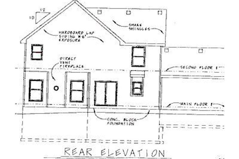 Colonial Exterior - Rear Elevation Plan #20-740 - Houseplans.com