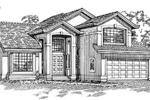 Traditional Exterior - Front Elevation Plan #47-288