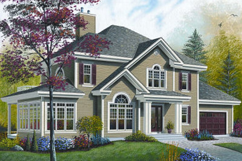 Dream House Plan - Traditional Exterior - Front Elevation Plan #23-872