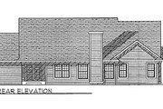 Traditional Style House Plan - 3 Beds 2.5 Baths 1907 Sq/Ft Plan #70-237 Exterior - Rear Elevation