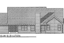 Dream House Plan - Traditional Exterior - Rear Elevation Plan #70-237