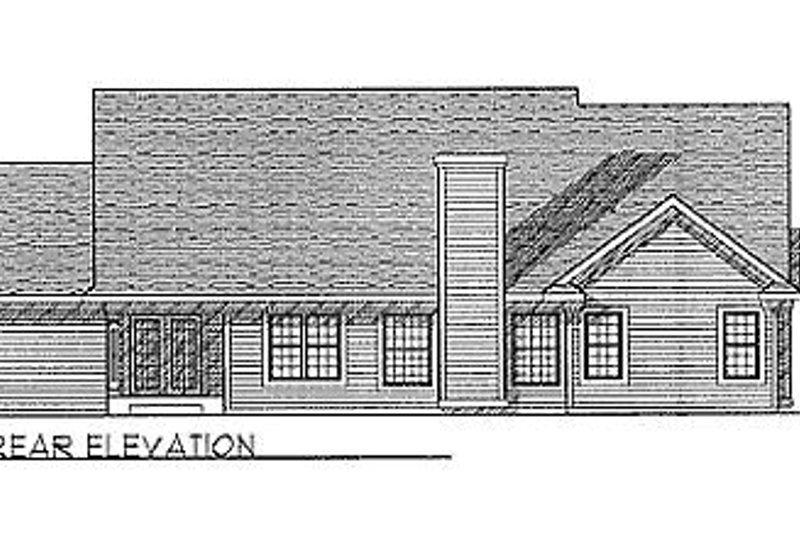 Traditional Exterior - Rear Elevation Plan #70-237 - Houseplans.com