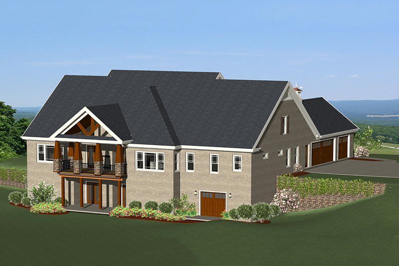 Craftsman Exterior - Rear Elevation Plan #898-11 - Houseplans.com