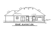 Home Plan - Ranch Exterior - Rear Elevation Plan #20-2296
