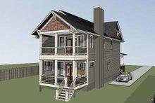 Dream House Plan - Craftsman Exterior - Rear Elevation Plan #79-317