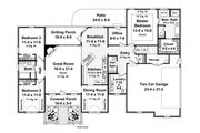 Southern Style House Plan - 3 Beds 2.5 Baths 1992 Sq/Ft Plan #21-234 Floor Plan - Main Floor Plan