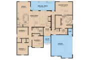 European Style House Plan - 4 Beds 3 Baths 2071 Sq/Ft Plan #923-28 Floor Plan - Main Floor Plan