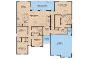 European Style House Plan - 4 Beds 3 Baths 2071 Sq/Ft Plan #923-28 Floor Plan - Main Floor