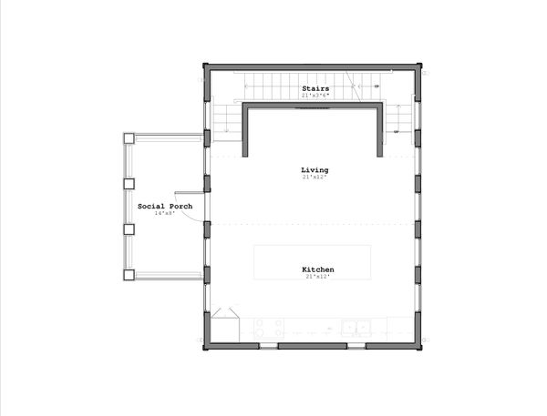 Craftsman Floor Plan - Main Floor Plan Plan #926-1