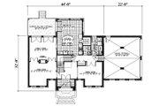 European Style House Plan - 3 Beds 2.5 Baths 2783 Sq/Ft Plan #138-337 Floor Plan - Main Floor Plan