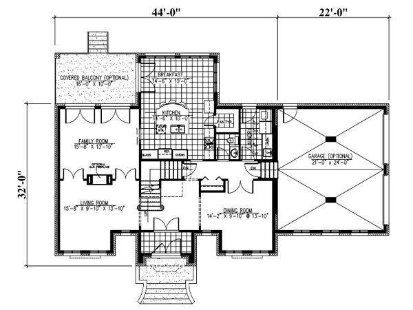 European Floor Plan - Main Floor Plan Plan #138-337